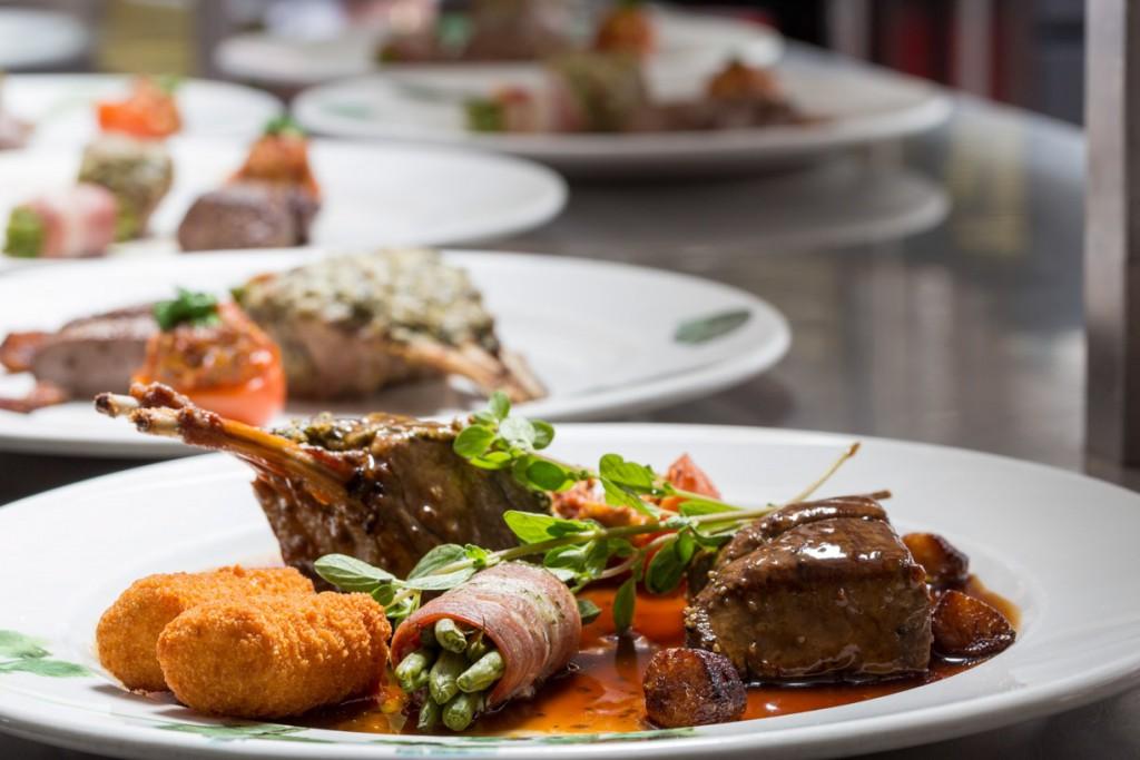 Culinair fotografie van een heerlijk bord eten,