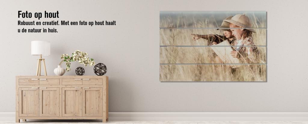 Online foto verkoop van fotoprint op hout.