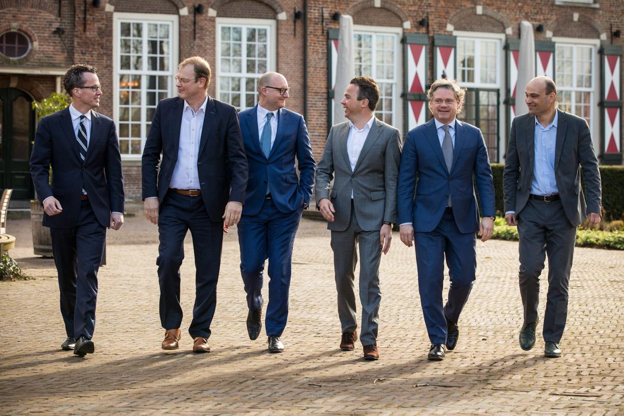 Groepsfoto zakelijke bijeenkomst